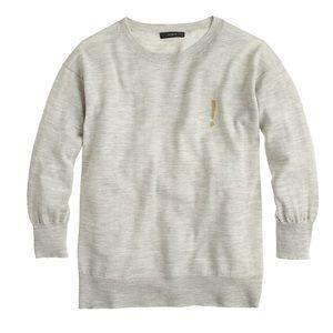 J. Crew Merino Exclamation Mark Tippi Sweater XS